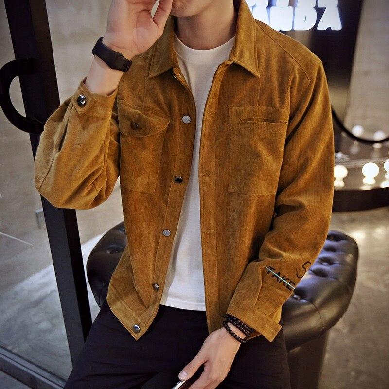 caqui Streetwear Venta 2019 gris Nueva Coffee Plus Hombres Frente Chaqueta Tamaño Chaquetas La Los Marca Primavera Larga Bolsillo De 5xl Diseño m Manga Hombres RTgAq