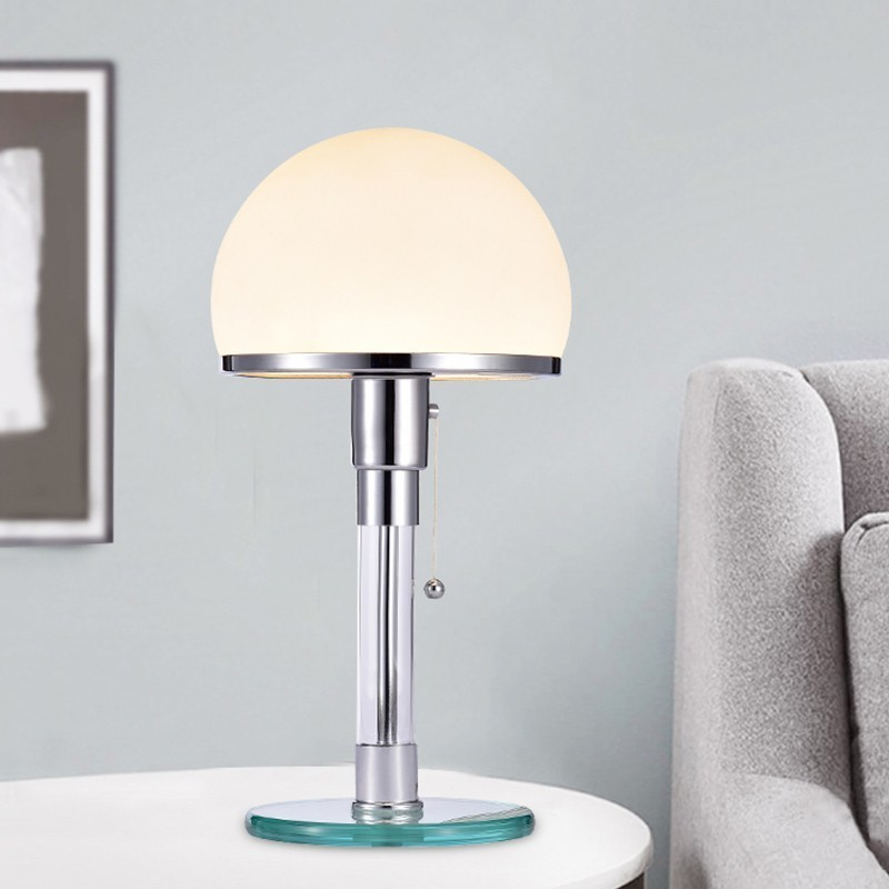 Replica Wilhelm Wagenfeld electroplated base table lamp -Bauhaus