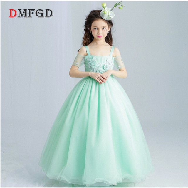 New flower Girls princess dress sleeveless children summer clothes ...