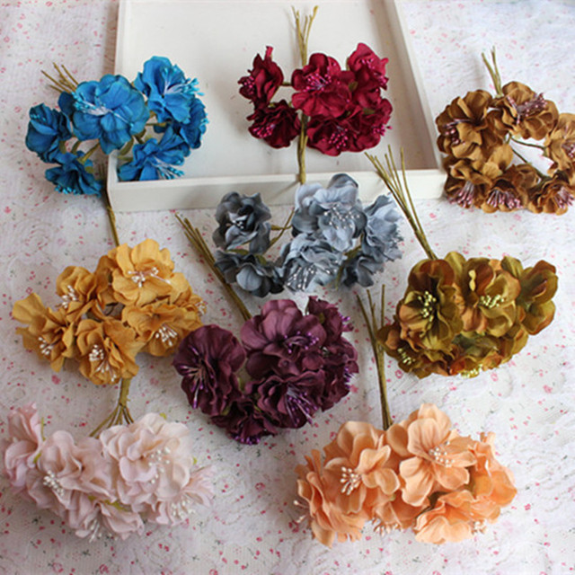 6pcsnew 3 cm silk flowers withered leaves flower wreath of diy 6pcsnew 3 cm silk flowers withered leaves flower wreath of diy accessories manual materials wholesale a mightylinksfo