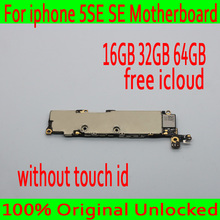 16GB 32GB 64GB Original unlocked for iphone 5SE SE Motherboard without Touch ID for iphone SE