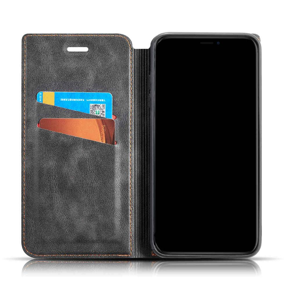 Flip Leather Phone Case For iPhone XSMAX XR XS X 8 7 6 6S Plus Retro Classic Ultra thin Wallet Card Back Cover For iPhone 7 Plus in Flip Cases from Cellphones Telecommunications