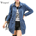 TANGNEST 2017 Jeans Jacket New Spring Autumn Korean Style Fashion Women Turn-down Collar Slim Denim Jackets Ladies Coat WWF392