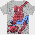 2017 High Quality Boys Girls Unisex Spiderman T-shirt Hot Sale O-neck Short Sleeve Casual Pure Cotton Children's T-shirt