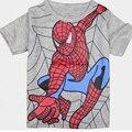 2017 de Alta Qualidade Das Meninas Dos Meninos Unisex Spiderman T-shirt Venda Quente O-pescoço Manga Curta Casuais T-shirt de Algodão Puro das Crianças