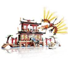 LELE 79140 Ninja Temple of Fire Fate Reward Bricks Toys Minifigures Building Block Toys Compatible with Legoe