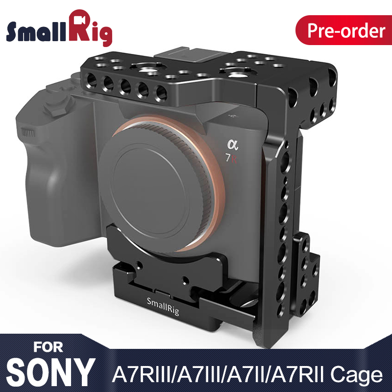 цена на SmallRig DSLR Camera Cage With Arca Style Quick Plate Half Cage for Sony A7R III/A7 III/A7 II/A7R II/A7S II 2238