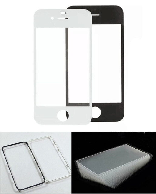For iPhone 5S Front Outer Screen Glass Panel Frame Bezel OCA Film ...