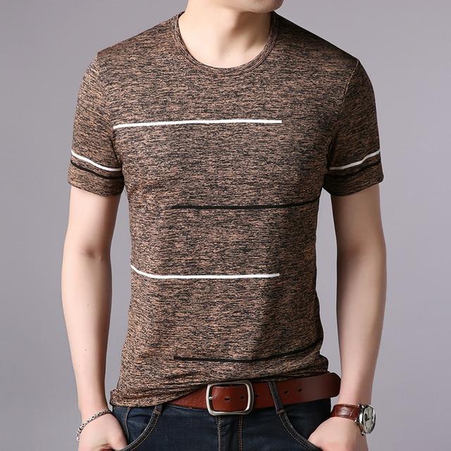 acd0fcfd 2019 New Fashion Brand T Shirts Mens Summer O Neck Cotton Trending  Streetwear Tops Striped Short Sleev Cool Tee Mens Clothing