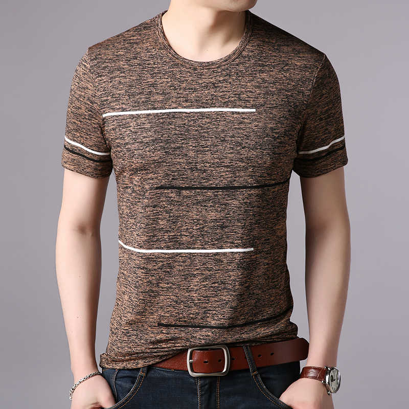 2019 новые модные брендовые футболки мужские летние хлопковые трендовые уличные топы с круглым вырезом в полоску с коротким рукавом крутая футболка мужская одежда