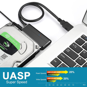 Image 4 - Rovtop USB 3.0 SATA 3 Cable Sata To USB Adapter Up Support 2.5 or 3.5 Inch External SSD HDD Hard Drive 22 Pin Sata III Cable