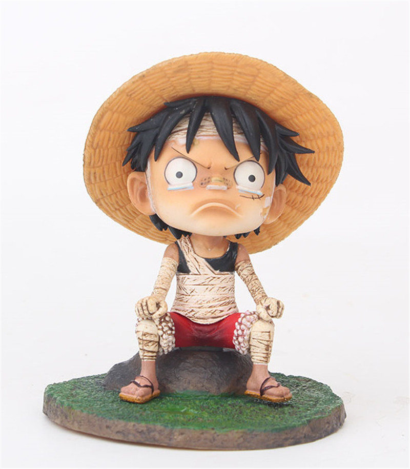 Us 17 61 50 Off One Piece Angry Luffy Action Figure Toys Anime Monkey D Luffy Young Boy Sitting Ver Figuras Dolls Brinquedos Gift 12cm In Action