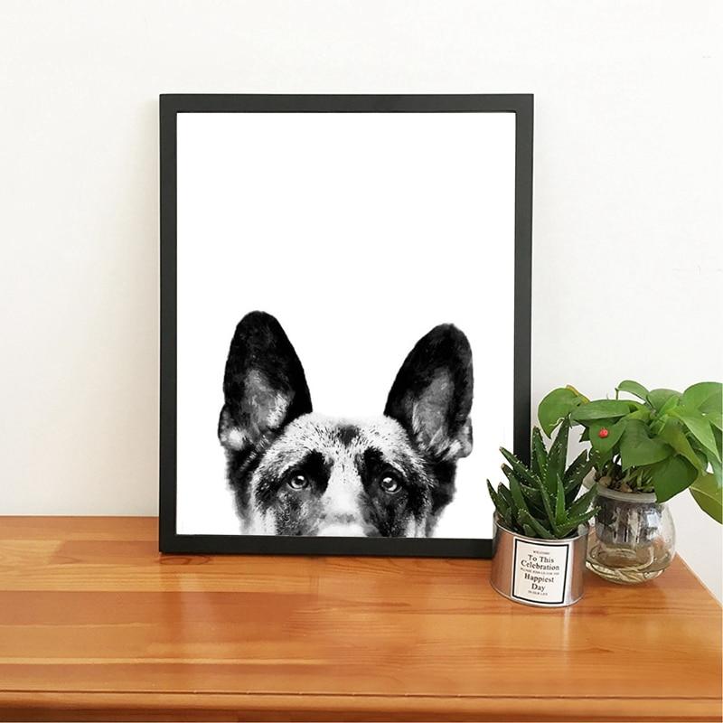 Modern Multi Dachshund Puppy Dog Canvas Art Print and Poster Home Art Decor