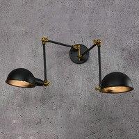 Rh loft lâmpada de parede braço mecânico frança jielde reminisced retrátil duplo vintage  haste dobrável