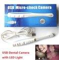 Inicio Herramientas de Dentista Oral Dental Cámara Intraoral USB Boroscopio Con 6 Luz LED ForTeeth Sesión de Fotos-Oído, Nariz Boca endoscopio