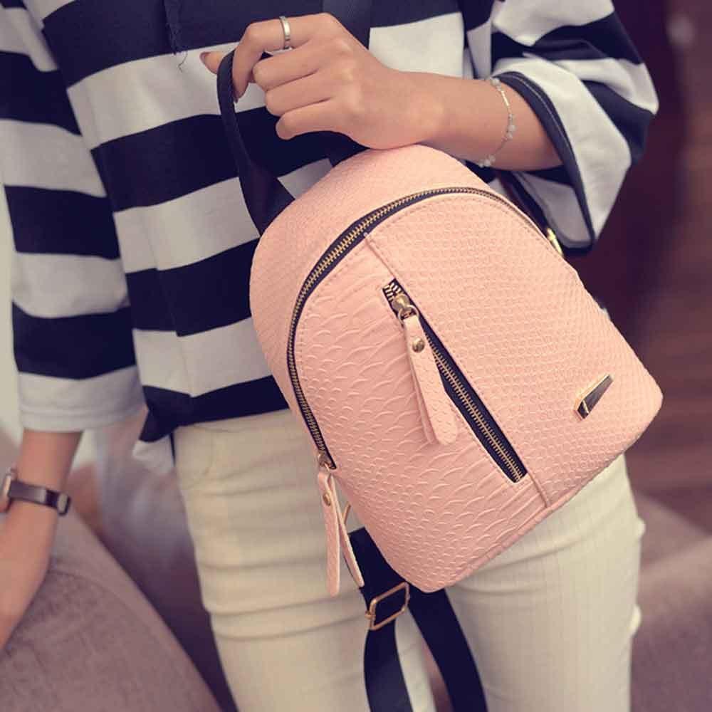 Women Anti Theft Leather Backpack Women Mini Backpacks Female Travel Backpack for Girls School Backpacks Ladies Black Bag #YY 1