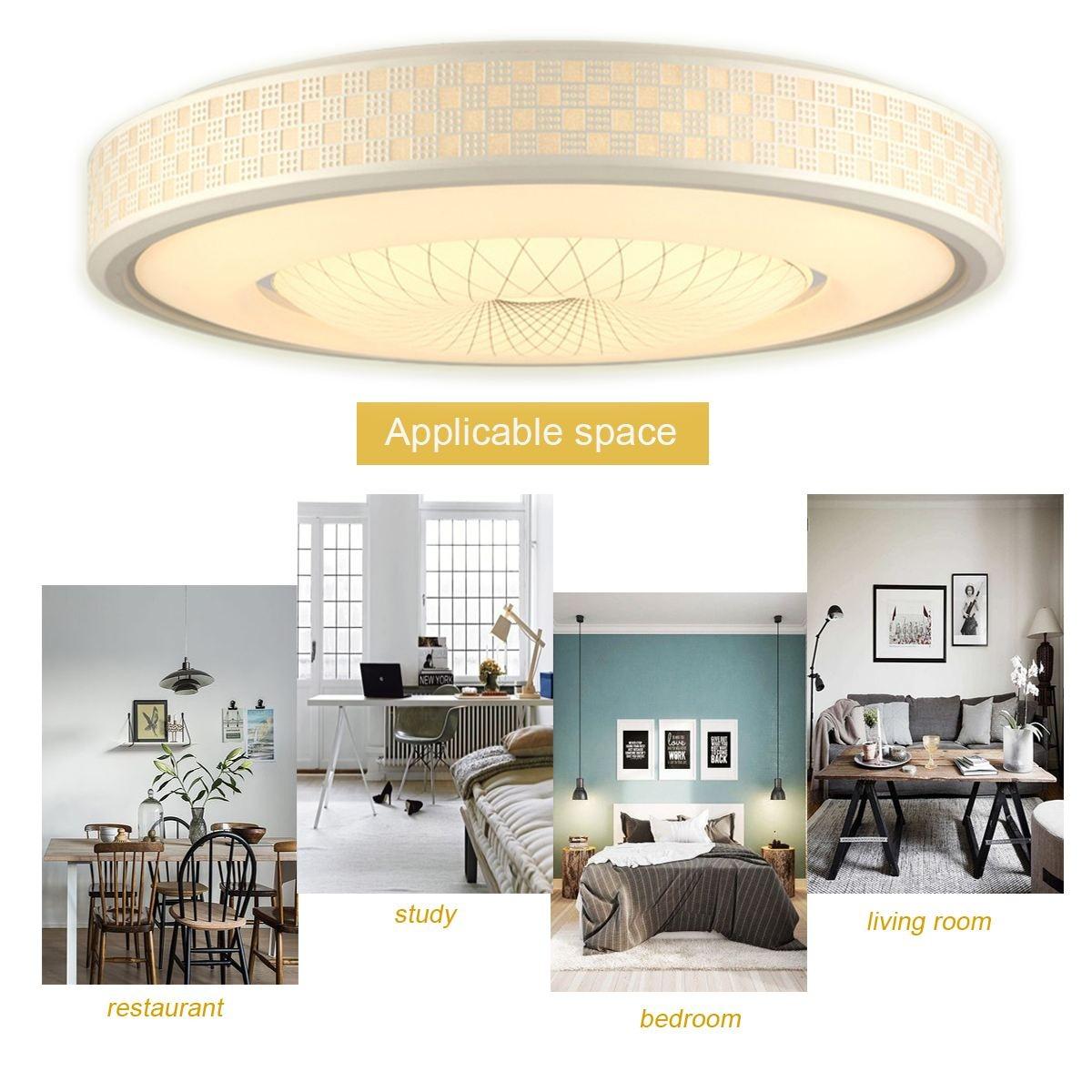 12/24W LED Modern Design Iron Round Ceiling Light Night Lamp ...