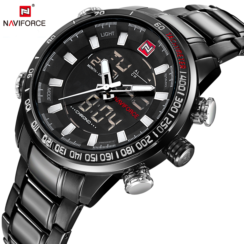 Naviforce army military watch top brand luxury mens casual sport waterproof ebay for Casual watches
