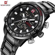 Naviforce лучший бренд класса люкс мужские Часы модные Повседневное наручные Спорт Водонепроницаемый Дата Часы Армии Военное Дело Relogio Masculino