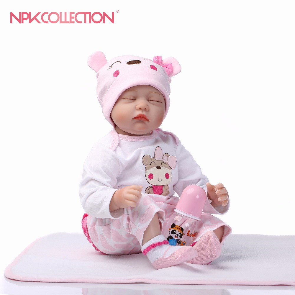 NPK New Arrival 18inch Reborn Baby Doll Real Life Like Reborn Doll Baby Boy Realistic Handmade