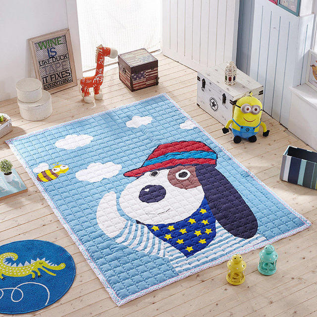 Cartoon floor mats for baby room anti slip carpet kids for Mats for kids room