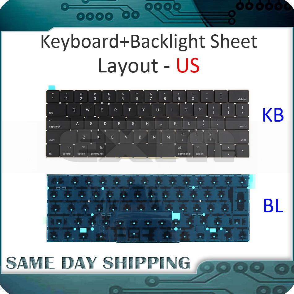NEW A1706 Keyboard US USA English W/ Backlight Backlit For Macbook Pro Retina 13