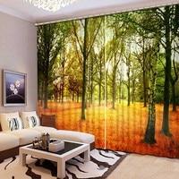 Современная роскошь 3D плотные Шторы реалистичные пейзажа 3D окна Шторы Спальня Гостиная шторы Cortinas де Сала cl 100