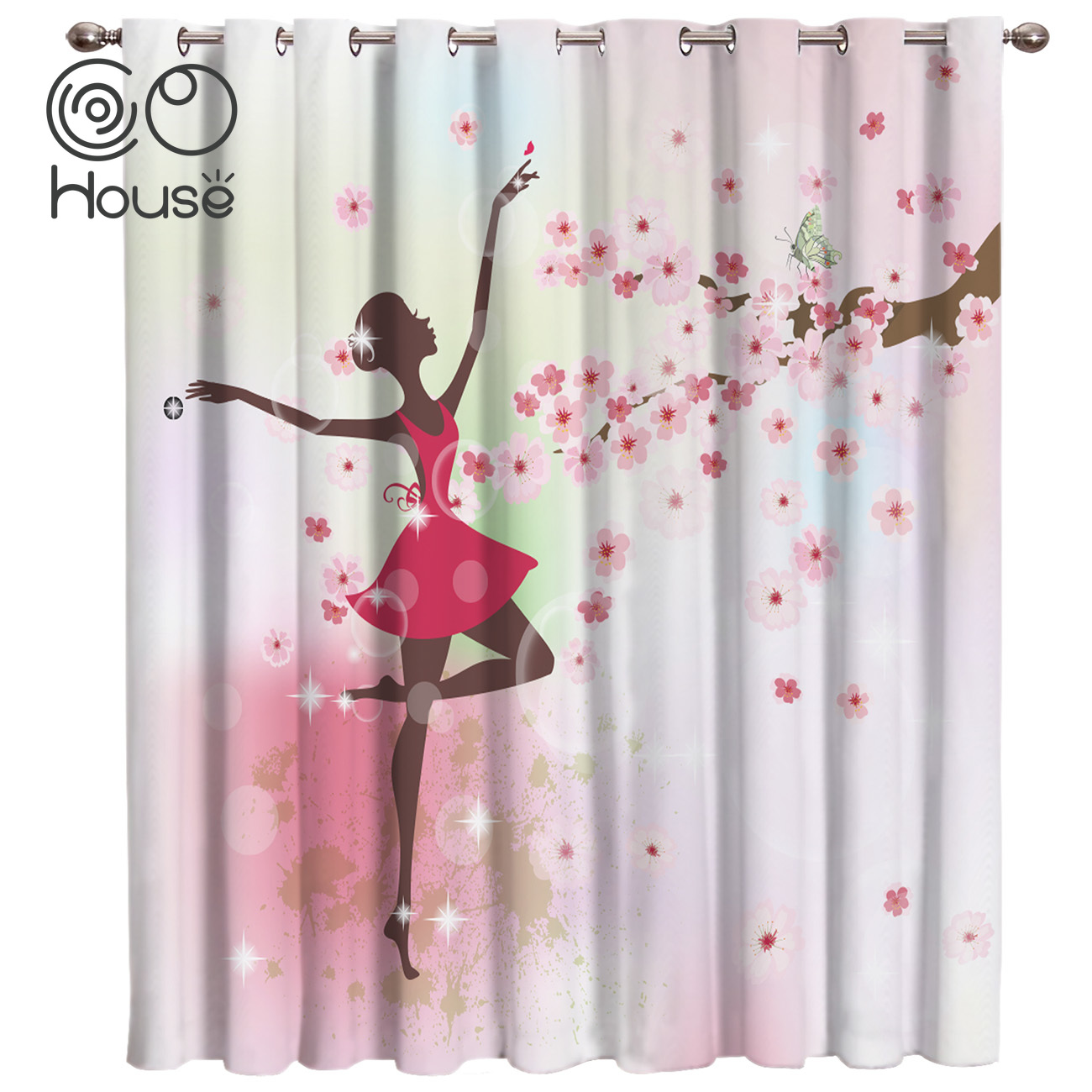 Cocohouse Beauti Ballet Dancer Room Curtains Large Window Window Curtains Dark Curtain Rod Bedroom Curtains Bathroom Outdoor Curtains Aliexpress