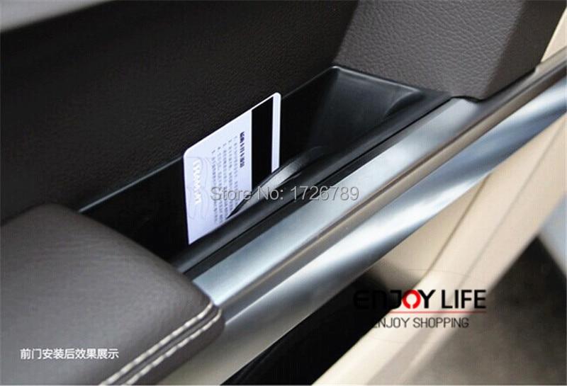 Car Armrest Box Door Handle Storage Glove Box Phone Holder