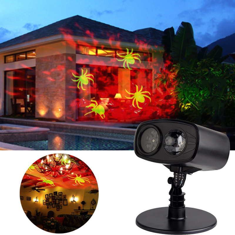 8W Waterproof Moving Laser Projector Lamp Red watermark spider cast LED Stage Light Christmas/New Year Party/Halloween Outdoor christmas heart snowflake halloween spider bowknot projector lights led stage lamps