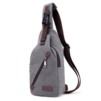 New Men Canvas Small Chest Packs Vintage Shoulder Bags Unisex Adjusted Strap Chest Bags Boy Multi