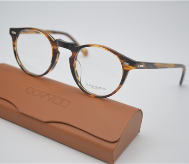 a1b00cf9d43 Vintage Optical Glasses Frame Oliver Peoples OV5186 Gregory Peck 47mm  Eyeglasses For Men and Women Eyewear
