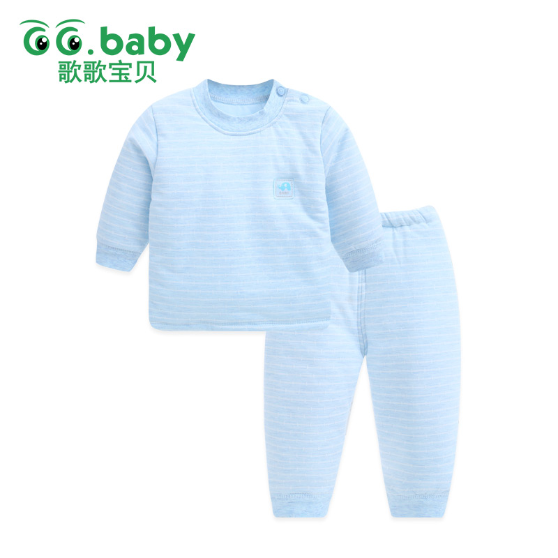 Warm Newborn Baby Boy Outfit Winter Baby Boys Clothes Pants Set Long Sleeve Baby Suit Girl Pajamas Infant Clothing Sets Snowsuit baby 3pcs set newborn infant baby boy girl clothes geometric t shirt tops striped long pants legging outfit set baby winter coat