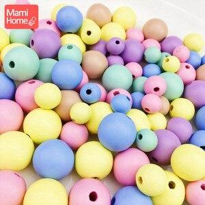 Image 5 - Mamihome 400Pcs 12 20mm ลูกอมสีลูกปัดไม้ BPA ฟรีเกรดอาหาร DIY สร้อยคอสร้อยข้อมือ baby Teether