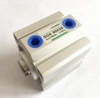 Bohrung größe 12mm * 60mm Hub SDA Mini Elektrische Doppeltwirkend Kompakte Pneumatische Druckluftzylinder