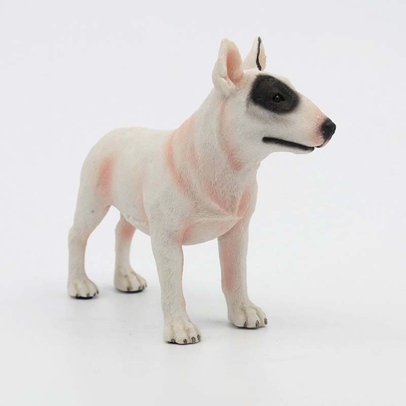 Mnotht 1/6 Bull Terrier Dog Model Model Anmial Dog Pet Sculpture - Խաղային արձանիկներ - Լուսանկար 2