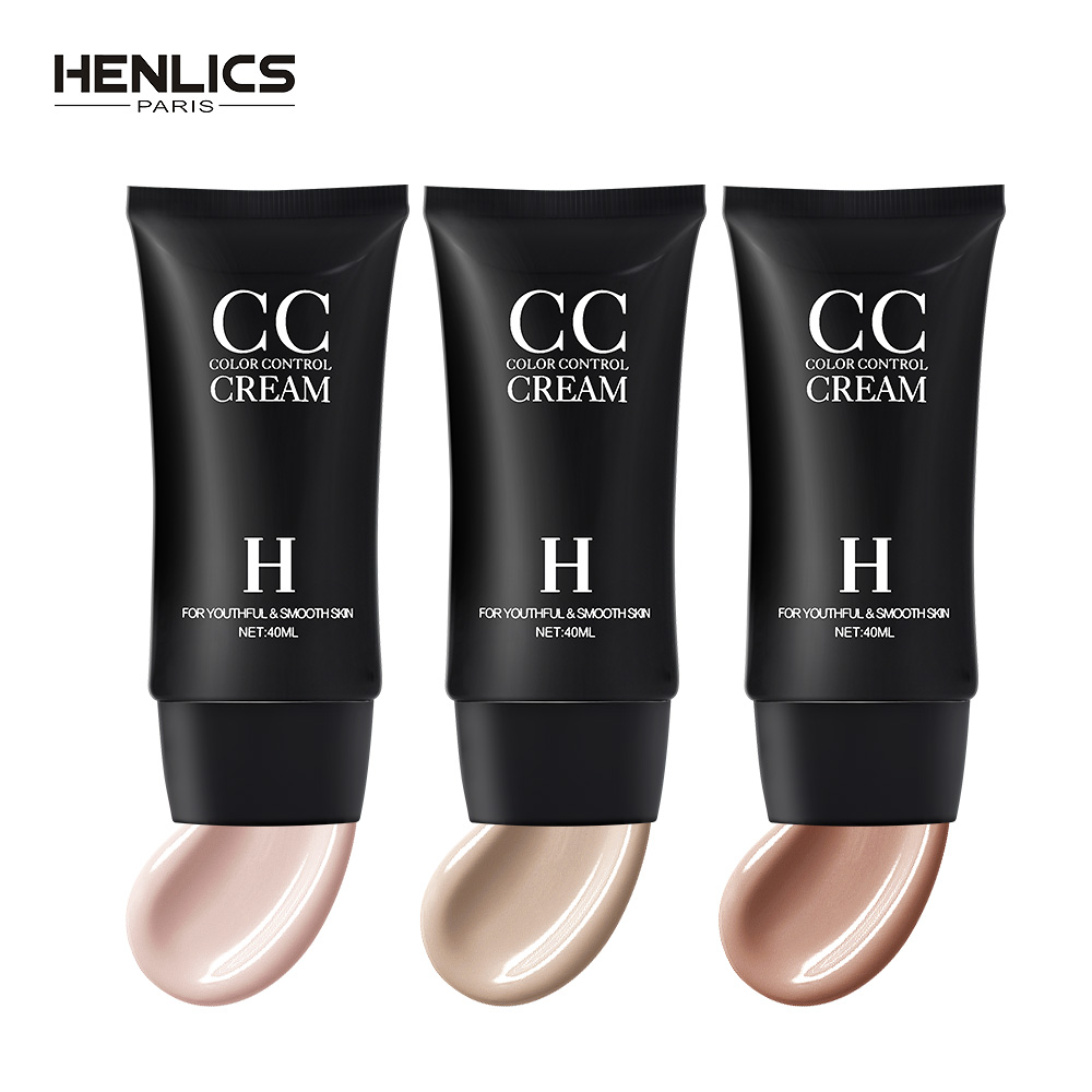 HENLICS <font><b>Korea</b></font> Cosmetics Full Cover CC Cream Foundation Makeup Face base BB&CC Cream Concealer Oil control whitening beauty cream image