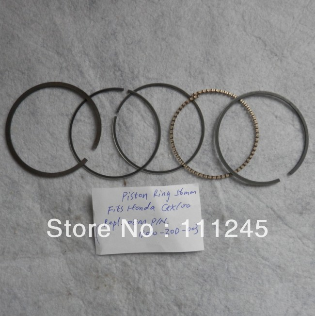 PISTON RING SET FOR HONDA GX100 4 CYCLE 98CC 2.8HP ENGINE CYLINDER RAMMER KOLBEN KIT RINGS TAMPER JUMPING JACK # 13010-Z0D-003 xinchang engine 498bt the set of pistons piston rings and piston pins for one engine