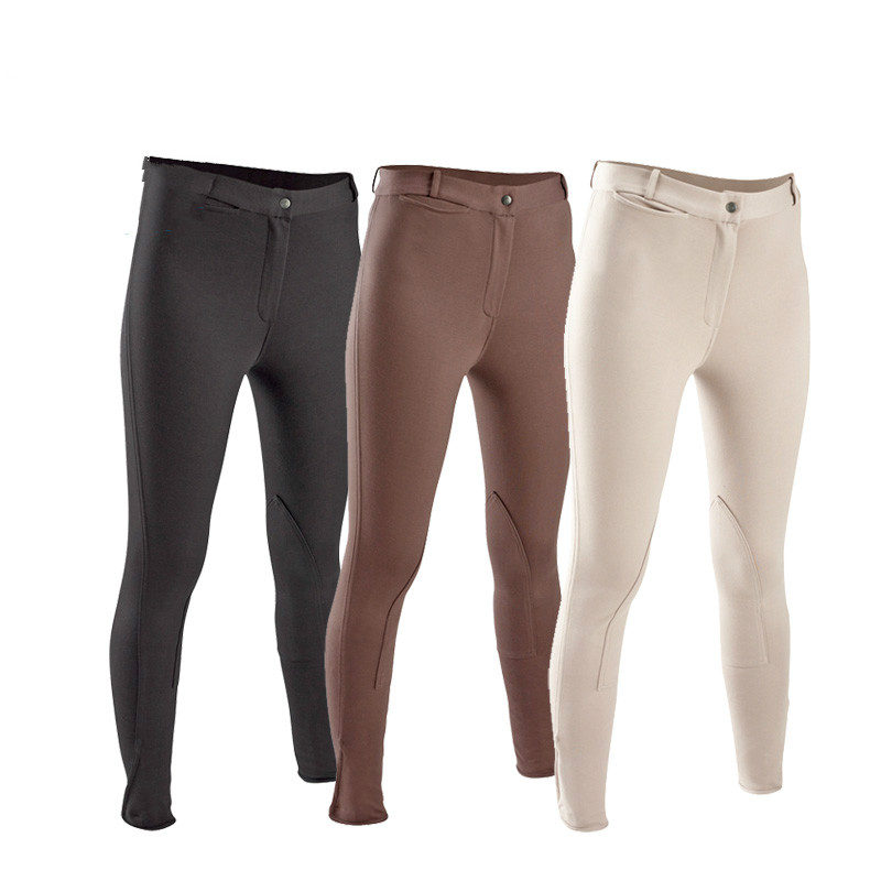 Women Equestrian Breeches Women Soft Breathable SkinnyTight Horse Riding Pants Horse Riding Schooling Chaps Black Brown men women professional equestrian horse riding helmet breathable durable safety half cover horse rider helmets