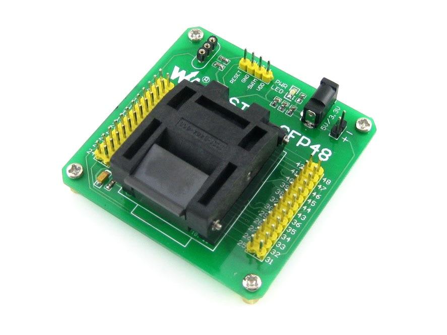 module STM8-QFP48 QFP48 TQFP48 FQFP48 PQFP48 STM8 Yamaichi IC Test Socket Programming Adapter 0.5mm Pitch stm8l152c6t6 qfp48