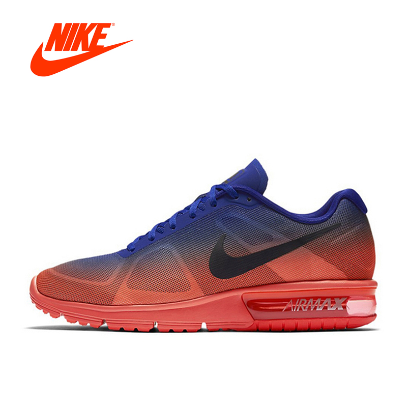 Original New Arrival Official Nike Men's Air Max Half-palm Cushioning Breathable Running Shoes Sneakers блюда elff ceramics тарелка банановый лист it green
