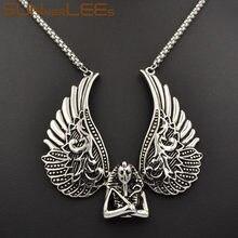 SUNNERLEES модные ювелирные изделия из нержавеющей стали подвеска ожерелье звеньевая цепь панк крылья для мужчин женщин SP52