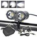 New Boruit LED Headlight Head lamp Bike light 5000Lumen Professional Lighting Expert + 8.4V 8800mah Battery pack +Charger