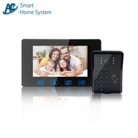 Wired Video Door Entry System 7 inch Screen Support Password/Access Card Unlock Ring Doorbell Motion Sensor