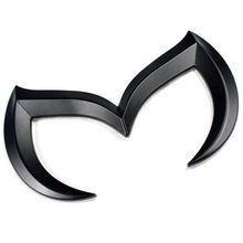 Zinc Alloy Black Auto Car 3D Evil M Batman Cool Metal Emblem Logo Front Rear Badge Grid Sticker for Mazda M2 M3 M5 M6 Car-stying