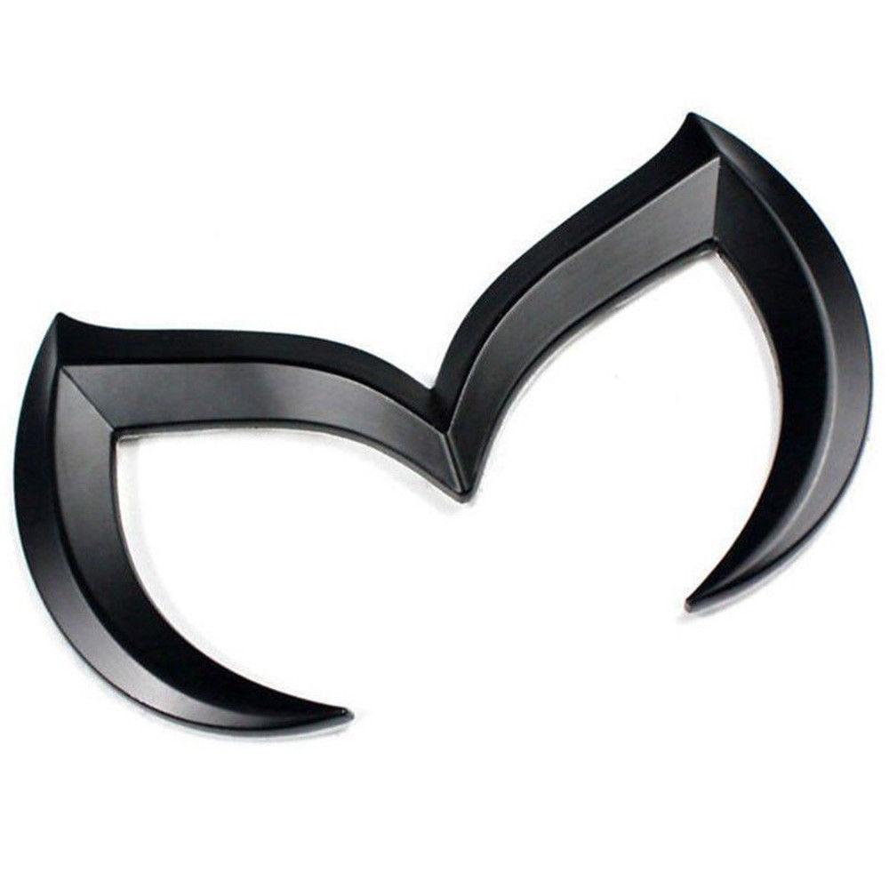 For Mazda Real Carbon Fiber Evil M Batman Rear Trunk Emblem Badge Logo Sticker