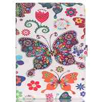 Colofrul Pattern Colorful Butterfly Card Slot Wallet PU Leather Stand Flip Case Cover For IPad6 Air