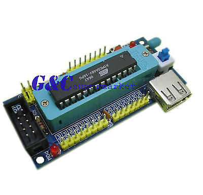 Макетная плата ATMEGA8 ATMEGA48 ATMEGA88, AVR (без чипа), комплект «сделай сам», 1 шт.