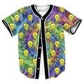 ЛСД Emoji Джерси мужская Одежда 3d печати overshirt Тройники рубашки топы Хип-Хоп с кнопками вскользь рубашки