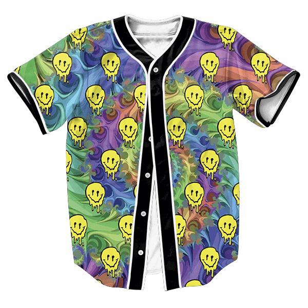 LSD Emoji Jersey Ropa de Los Hombres de impresión 3d Tees camisa overshirt tops Hip Hop con botones camisas Ocasionales de la manera